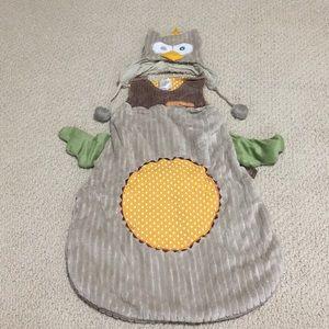 "Baby Aspen ""Little Night Owl"" sleep sack and cap"